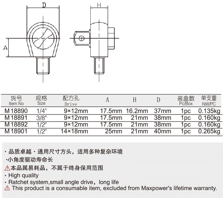 方头棘轮插件(图1)