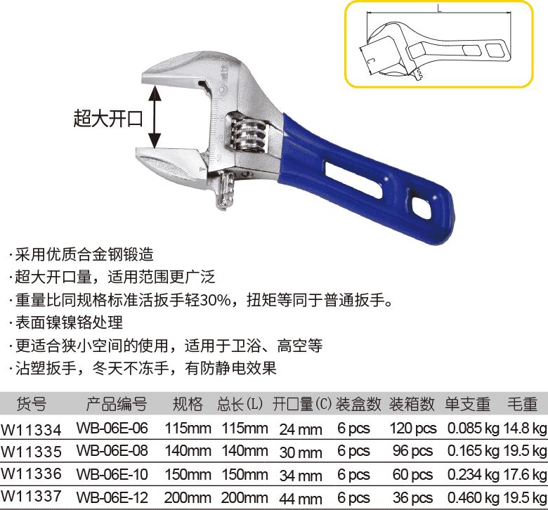 轻型短柄活扳手(图1)